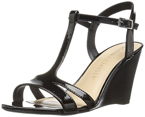 Athena Alexander Womens Andres Andres Black Patent