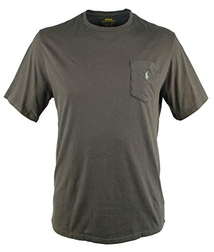(Polo Ralph Lauren Big and Tall Cotton Jersey Pocket T-Shirt (3X Big, Infinite Grey))