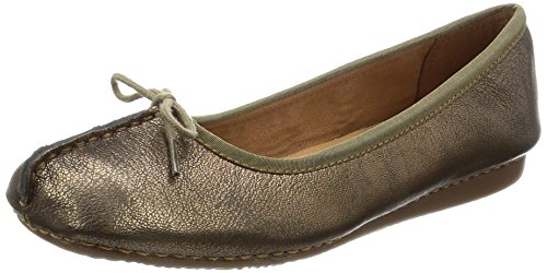 bronze Freckle Leather Ice Ballerines Clarks Femme Gris xpOXqqH