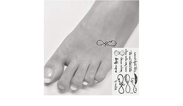 Oottati 2 Hojas Pequeño Lindo Tatuaje Temporal Tattoo Poema Inglés ...