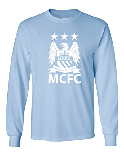Local Imprint Men's Manchester City Long Sleeved Tee S Light Blue