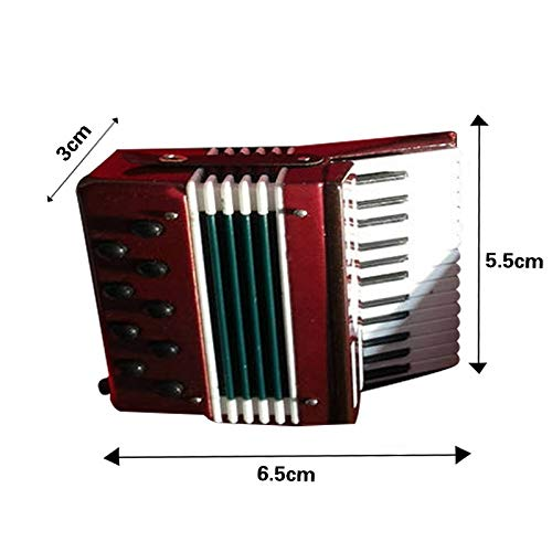 ZAMTAC Mini Cello/Bass Guitar/Lute/Accordion/Zither Model Musical Instrument Replica Ornaments Home Desktop Decoration - (Color: Accordion Model-B) by ZAMTAC (Image #6)