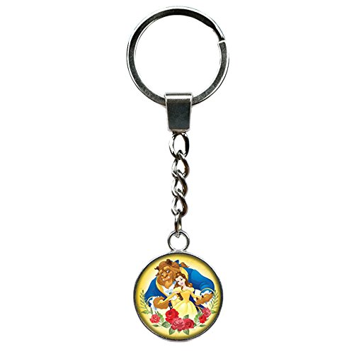 Beauty and the Beast Disney Premium Quality Silvertone Keychain Key Ring w/Gift Box for $<!--$12.97-->