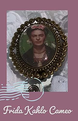 Cameo Frida Kahlo bronze id holder badge holder Professional ID wear, badge reel jewelry