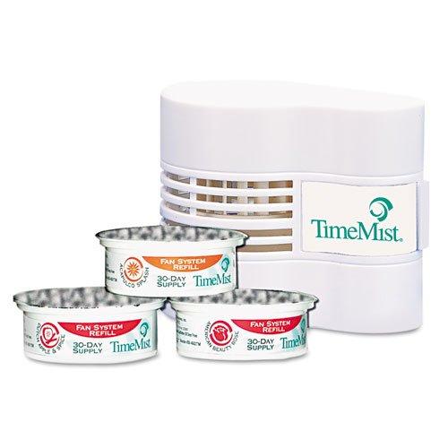 TimeMist Continuous Fan Fragrance Dispenser, 4-1/2 x 3 x 3-3/4, White (321740TM)