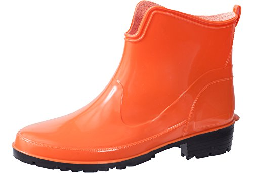 Ladeheid Damen Kurze Gummistiefel LA-930 Orange