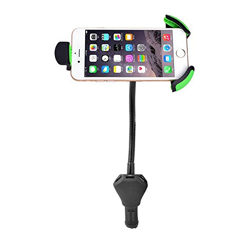 Car Mount with 3 USB Charger,Universal Cell Phone Holder Sta