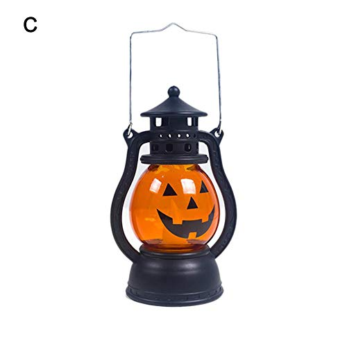 Dalilylime Halloween Pumpkin Lights, Cute LED Pumpkin Night Light Lamp for Harvest Festival and Halloween -