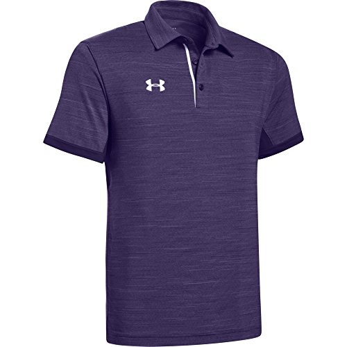 Under Armour Men's Elevated Polo (X-Large, Purple Heather-White)