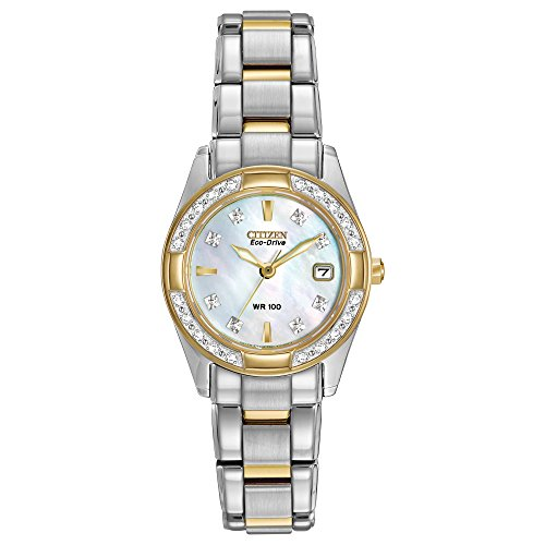 - Citizen Women's Eco-Drive Diamond-Accented Watch with Date, EW1824-57D