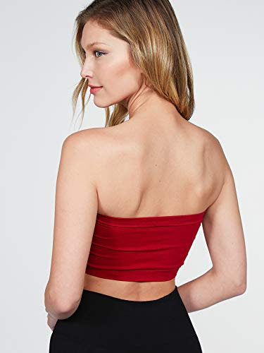 cea593cf73605 Luna Flower Women s Basic Strapless Seamless Padded Bandeau Solid Color  Tube Bra Tops