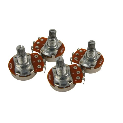 Musiclily Guitar Full Size Pots B500K Potentiometers for Electric Guitar Bass Parts(Pack of 4)