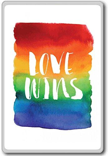 Love Wins Rainbow – motivational inspirational quotes fridge magnet
