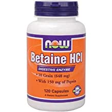 NOW Betaine HCL with Pepsin Supplement