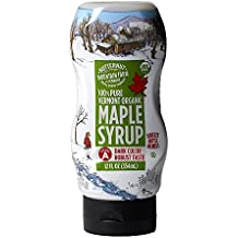 Butternut Mountain Farm Organic Vermont Maple Syrup, 100% Pure Grade A Dark Robust (formerly Grade B), 12oz