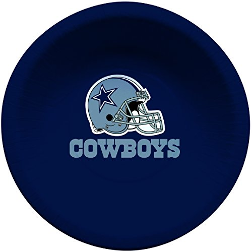Creative Converting 8 Count Dallas Cowboys Paper Bowls, 20-Ounce