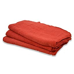 100 Pack Red 100% Cotton Shop Towel Rags **Industrial A Grade** for Automotive Car Industry-