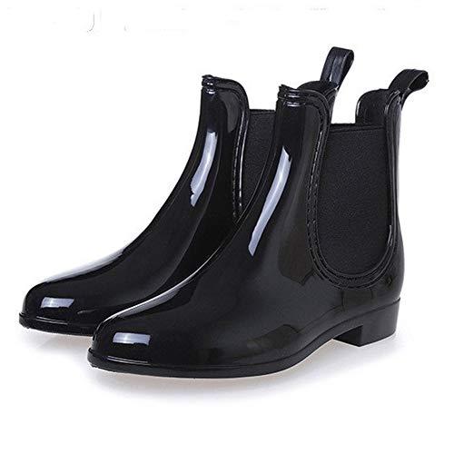 Mit 35 Gr 43 Chelsea Blockabsatz schwarz Gummistiefel Regenstiefel Kurzschaft Pastaza Damen Boots Unisex Herren D v7qw8P