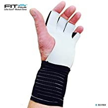 Fit Four F4G Gymnastic Grips | Leather Palm Countour Grip for Pull-Ups, Ropes, Bars, Kettle Bells