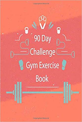 90 day challenge gym exercise book daily record journal for gym
