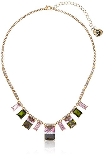 - Betsey Johnson Marie Antoinette Tourmaline Faceted Stone Necklace