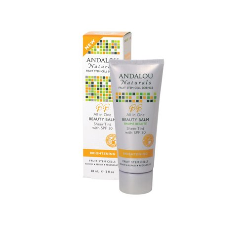 Andalou Naturals Beauty Balm Sheer Tint with SPF 30 Brightening - 2 oz , Andalou Naturals , Moisturizers, Health & Beauty