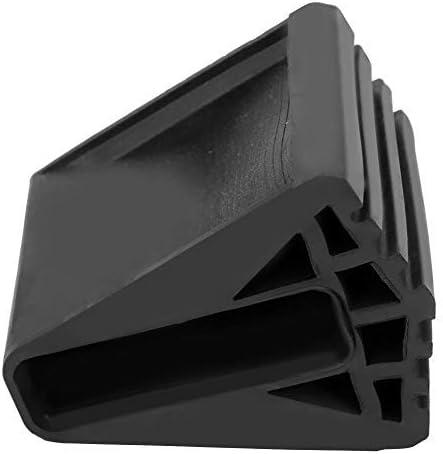 BYARSS 4Pcs Escalera de Goma Almohadilla para el pie Alfombrilla Antideslizante Pies Cubierta Escalera Plegable Seguridad Bumpers Reemplazo Kit Accesorios