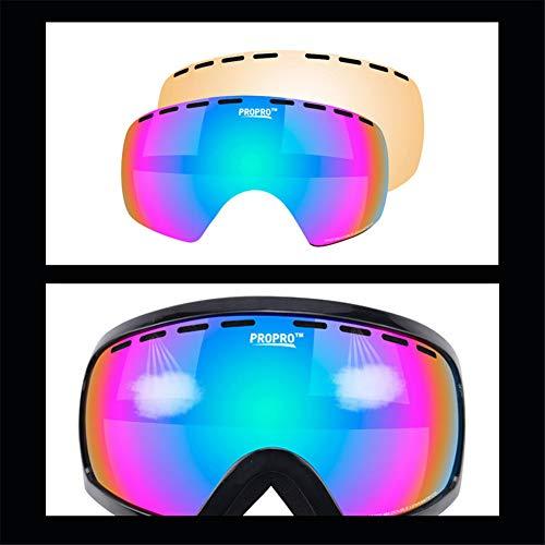 Diseño glasses Hombre Mujer Seguridad de Diseño iShinè esquí Ojo Gafas 1 Unisex Sol de de 1 Gafas Protección Exterior Deportes Gafas de Rxqgfd