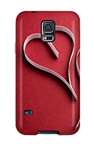 Defender Case For Galaxy S5, Love Red Pattern