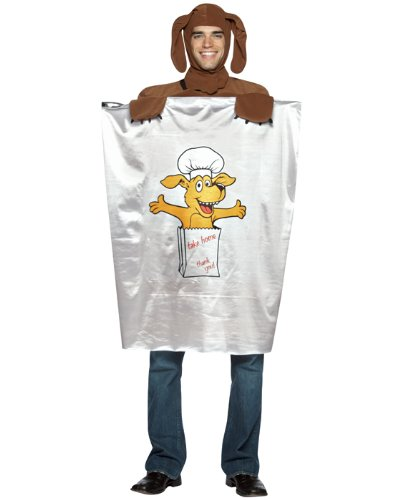 Doggie Bag Costume (Rasta Imposta Doggie Bag, White, One Size)