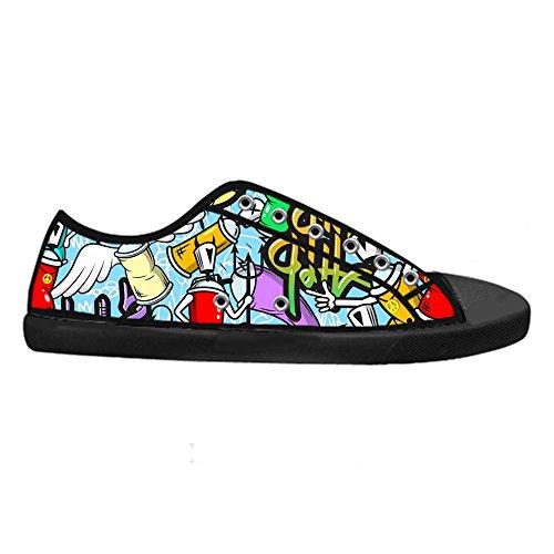 Panno Custom Top Sneakers Canvas Di Tela High Scarpe Lace S Vela B Graffiti Up Men' Shoes A AqzOrvA