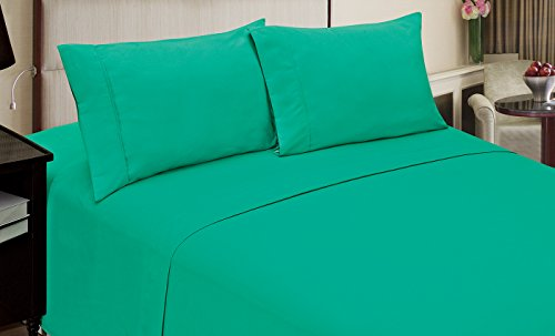 Piece 3 Morgan (Home Dynamix JMFS-281 3 Piece Jill Morgan Fashion Sheet Set, Twin X-Large, Solid, Teal)