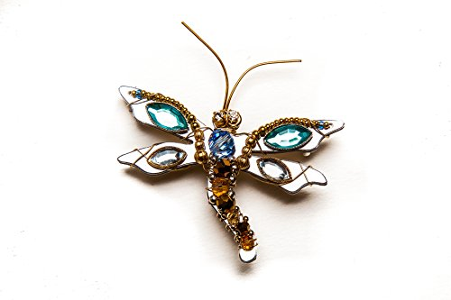 Beaded Dragonfly Pin (Liztech Dragonfly Sophia Pin Dragonfly Brooch Insect Jewelry (Blue))