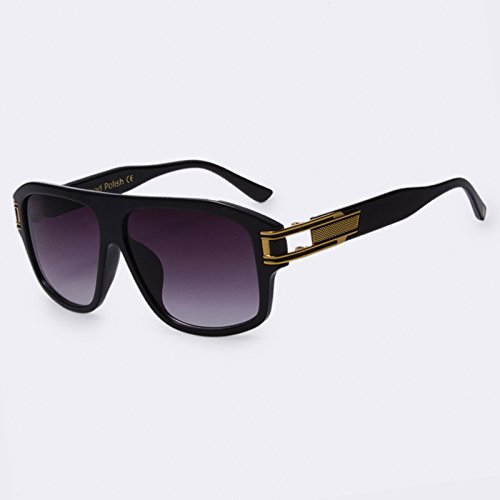 Gydoxy(TM) 1 PCS Classic Fashion Square Glasses Gradient Sun glasses for Men Sunglasses Vintage Women Brand Designer Oculos de sol UV400 - A Is Maui Jim Brand Good