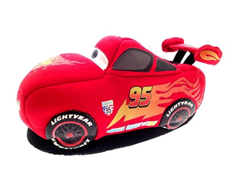 Boys Disney Cars 3D Lightning McQueen Slippers Shoes Red Black Toddler Children Size UK 4 - 10