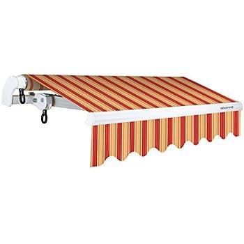 ADVANING Manual S Series, 10u0027x8u0027, Red/Beige Stripes, Slim