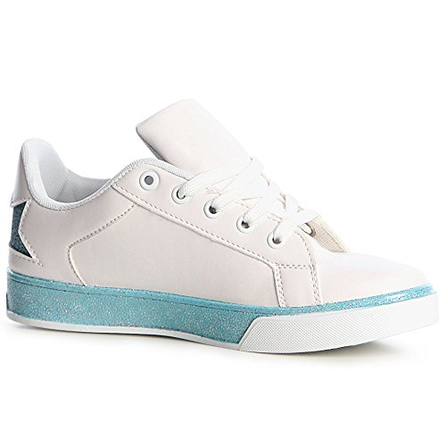 Femmes Clair Bleu Topschuhe24 De Sport Chaussures Sneaker RdgxTaw