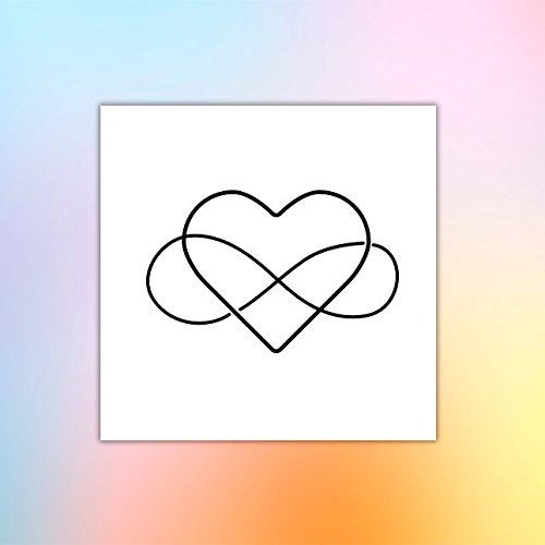 Amor infinito - Tatuaje temporal (conjunto de 2): Amazon.es: Handmade