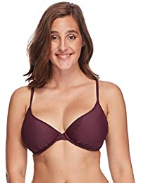 05f92f1aa5 Women's Smoothies Solo Solid Underwire D, Dd, E, F Cup Bikini Top Swimsuit