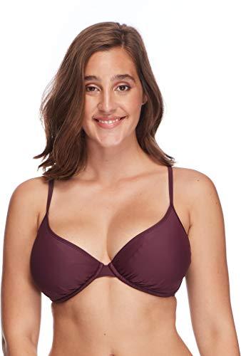 (Body Glove Women's Smoothies Solo Solid Underwire D, DD, E, F Cup Bikini Top Swimsuit,)