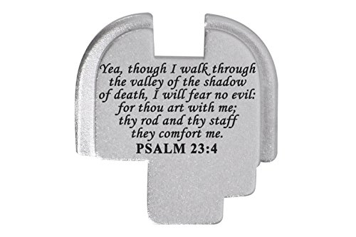 (for Springfield Armory XD-S Back Plate Silver NDZ Bible Psalm)
