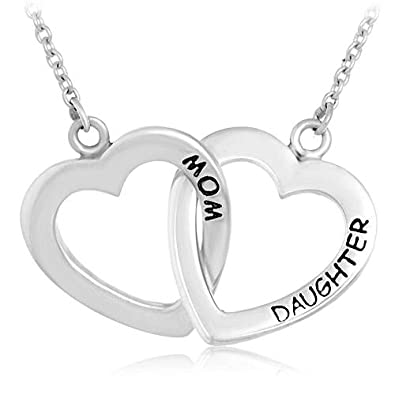 Amazon chuvora 925 sterling silver mom daughter two hearts love chuvora 925 sterling silver mom daughter two hearts love pendant necklace 18 inches aloadofball Image collections