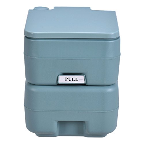 20L Easy Carry & Clean Portable TravelFlush Toilet Greenish Gray Potty by FDInspiration (Image #4)