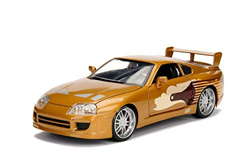 Toyota Supra Hard Top, Fast and Furious - Jada 99540/4 - 1/24 Scale Diecast Model Toy - Diecast Gold Car