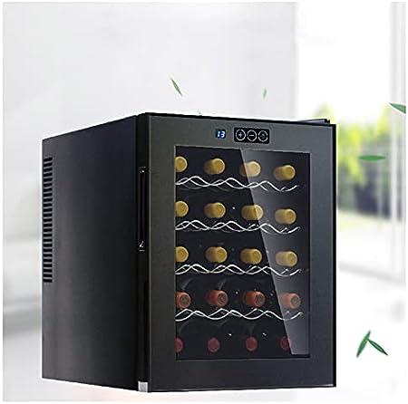 SADWQ Vinoteca Grand Sommelier 16 Botellas con Control de Temperatura Digital Estante en Acero INOX Evita Vibraciones Puerta Hermética de Vidrio de Doble Capa para Kitchen Home Bar