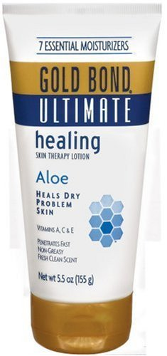 Gold Bond Moisturizing Moisturizer (Gold Bond Ultimate Skin Therapy Lotion, Healing, Aloe, 5.5 oz , (Pack of 2))