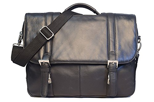 Colombian Leather Laptop & iPad Messenger/Leather Messenger Bag/Briefcase By TOM&CLOVERS BAGS