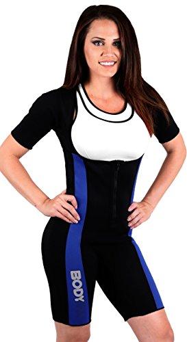 Body SPA Light Body Sauna Suit Neoprene Full Body Shaper GYM Sport Aerobic (Pink,...