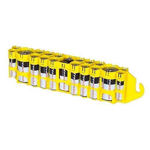 Storacell by Powerpax PBC Original Multi-Pack Battery Caddy, Yellow