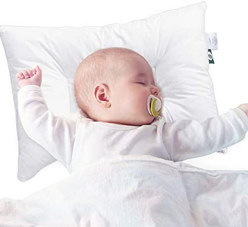 Sable Baby Toddler Pillow for Sleeping with Premium Fiber, Oeko-Tex 100 Certified for Newborns & Infants Prevents Flat Head Syndrome, 100% Cotton Exterior 14